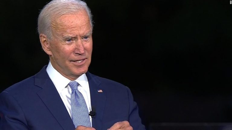 Joe Biden gets angry talking about son during healthcare question – CNN Video